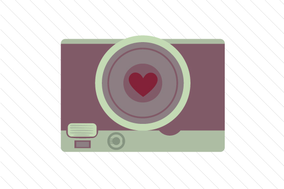 Download Free Camera With Heart Svg Cut File By Creative Fabrica Crafts for Cricut Explore, Silhouette and other cutting machines.