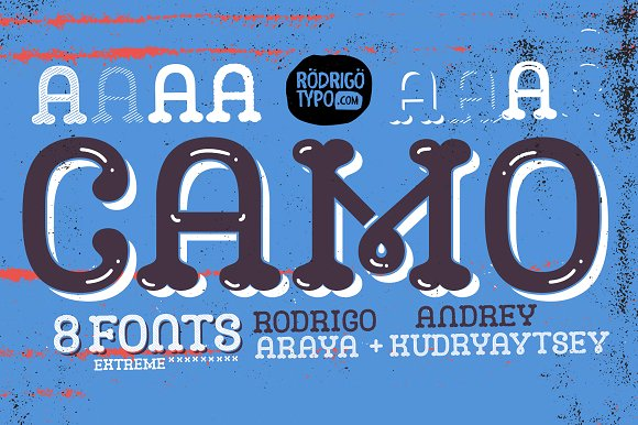Print on Demand: Camo Display Font By Rodrigo Typo - Image 1