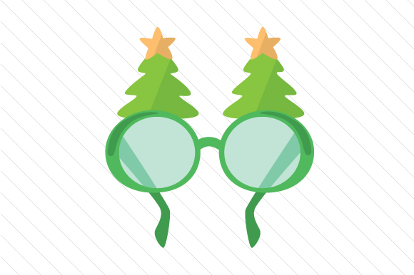 Download Free Christmas Tree Glasses Svg Cut File By Creative Fabrica Crafts for Cricut Explore, Silhouette and other cutting machines.