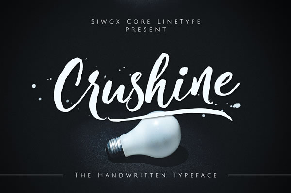 Print on Demand: Crushine Script & Handwritten Font By SiwoxS