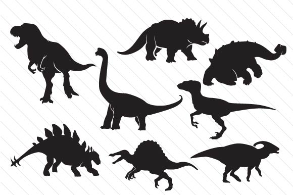 Dinosaur Shapes Dinosaurs Craft Cut File By Creative Fabrica Crafts