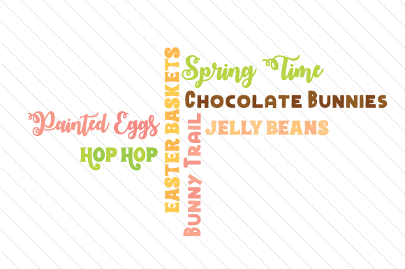 Download Free Easter Word Collage Svg Cut File By Creative Fabrica Crafts for Cricut Explore, Silhouette and other cutting machines.