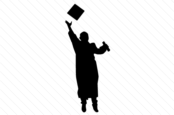 Download Free Graduation Silhouettes Male And Female Svg Cut File By Creative for Cricut Explore, Silhouette and other cutting machines.