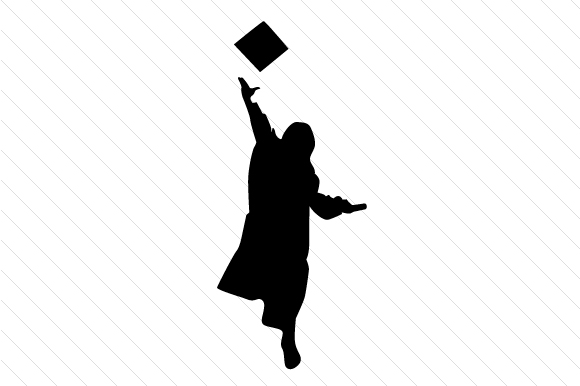 graduation silhouettes male and female svg cut file by