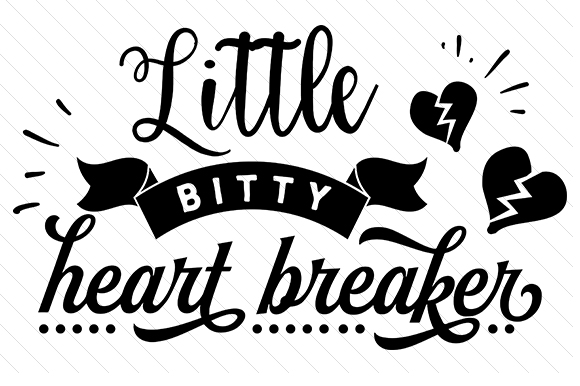 Little Bitty Heart Breaker Kids Craft Cut File By Creative Fabrica Crafts