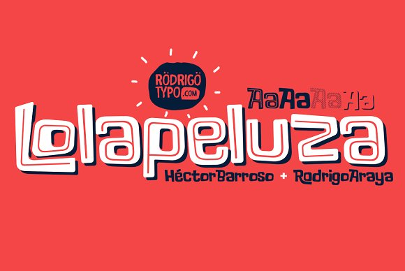 Print on Demand: Lolapeluza Display Font By Rodrigo Typo