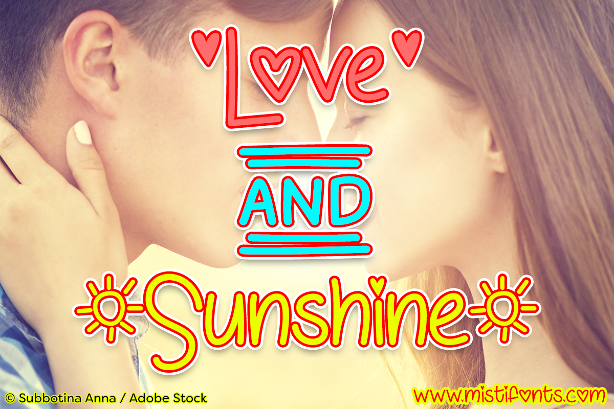 Print on Demand: Love and Sunshine Script & Handwritten Font By Misti