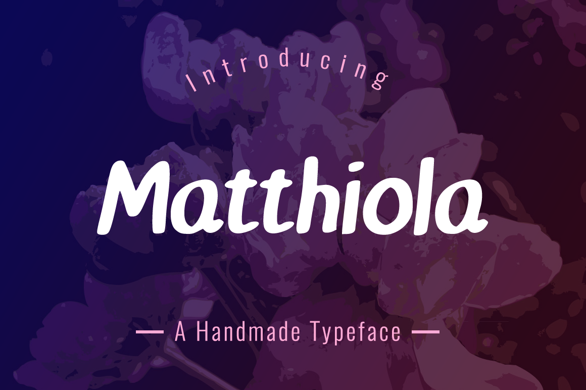 Print on Demand: Matthiola Display Font By Contour Fonts