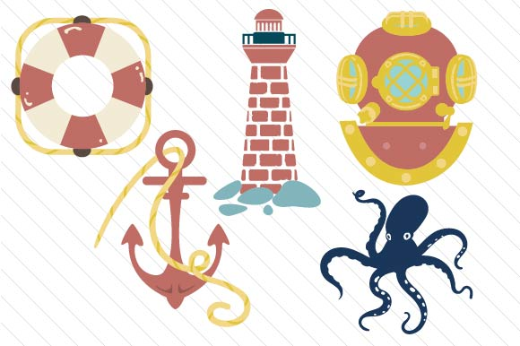 Nautical Design Set Designs & Drawings Craft Cut File By Creative Fabrica Crafts