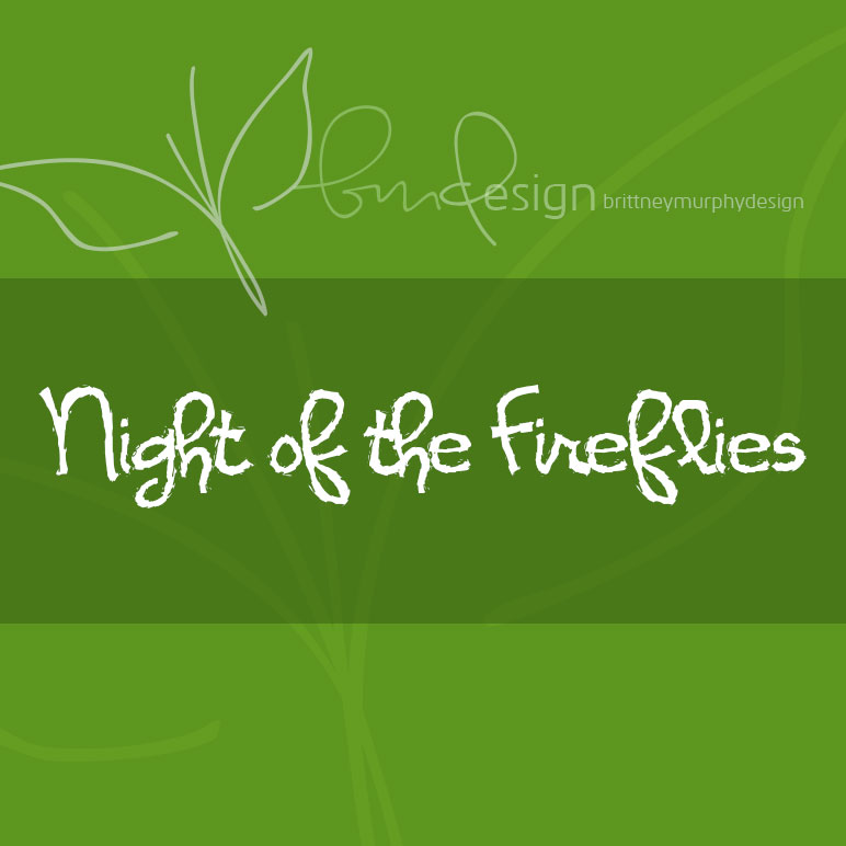 Print on Demand: Night of the Fireflies Script & Handwritten Font By brittneymurphydesign