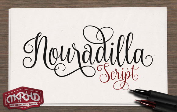 Print on Demand: Nouradilla Script Free Version Font By Creative Fabrica Freebies