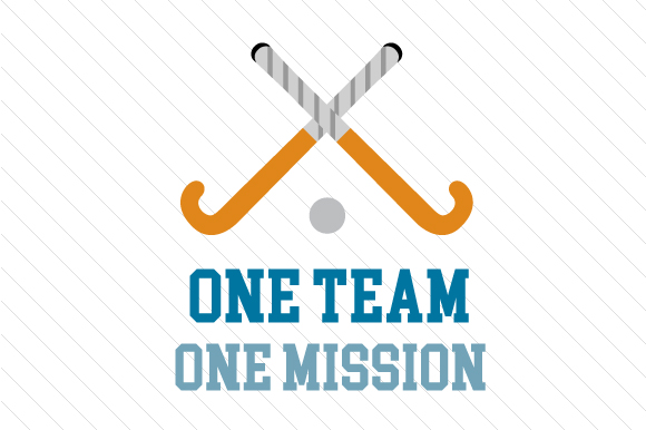 One Team One Mission Hockey Sports Craft Cut File By Creative Fabrica Crafts