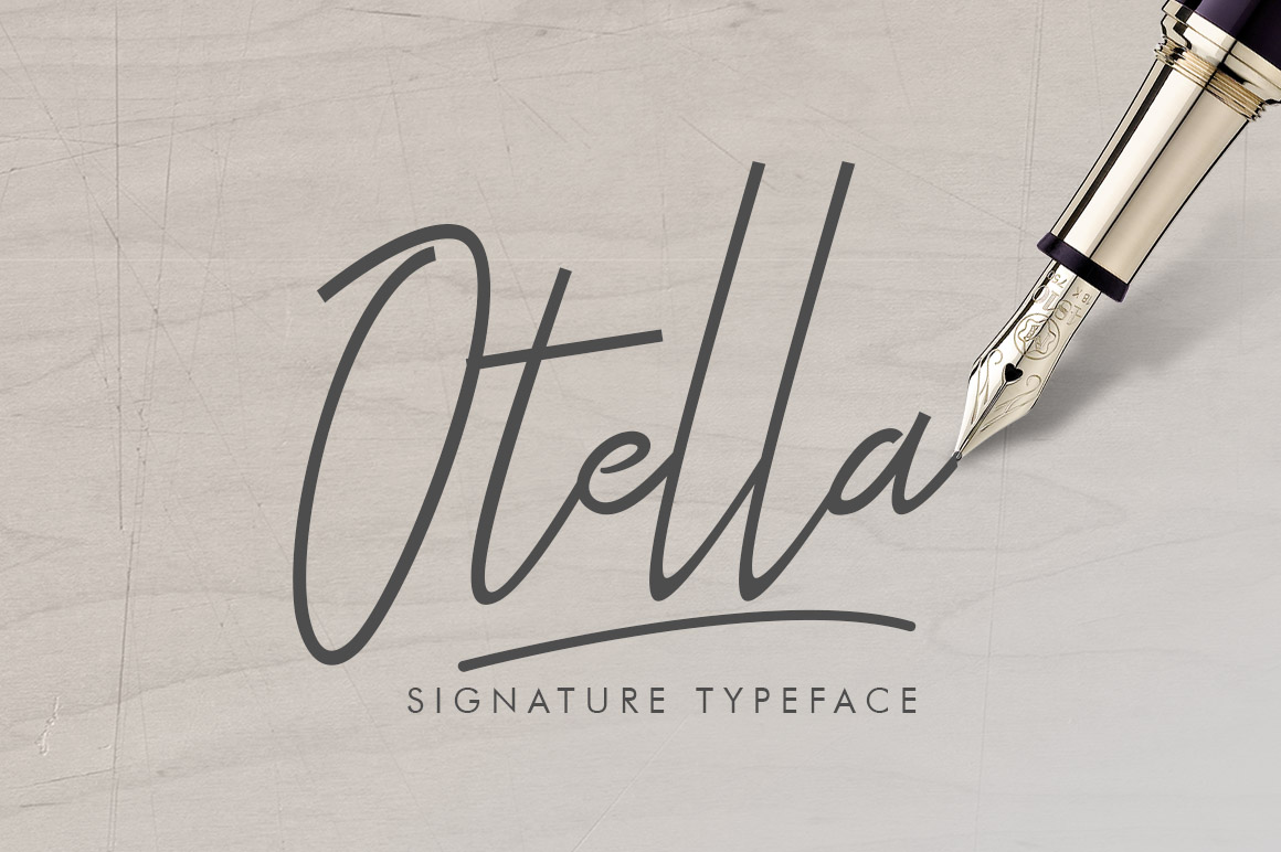 Print on Demand: Otella Signature Script & Handwritten Font By Khurasan