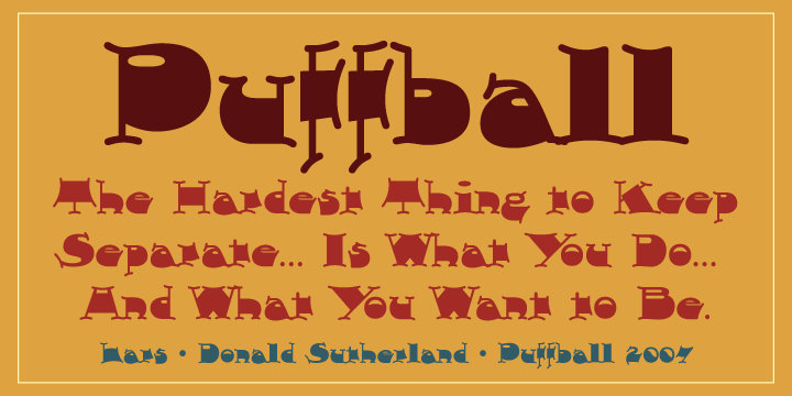 Print on Demand: Puffball Font By Good Gravy Type