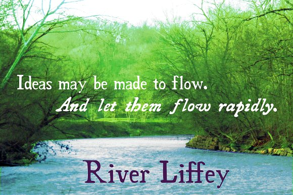 River Liffey Font By Proportional Lime