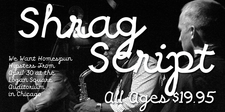 Print on Demand: Shrag Script Font By Good Gravy Type