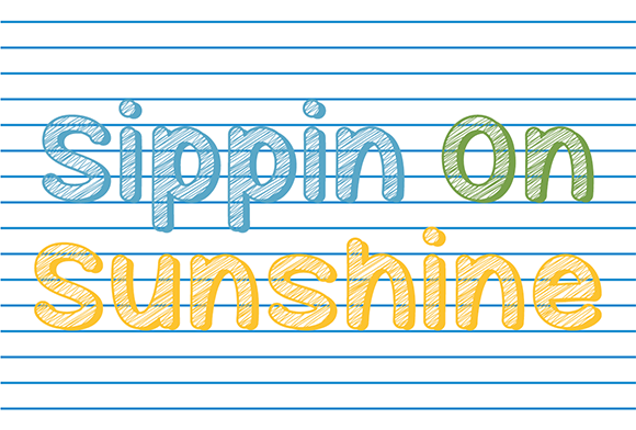 Print on Demand: Sippin on Sunshine Script & Handwritten Font By Misti