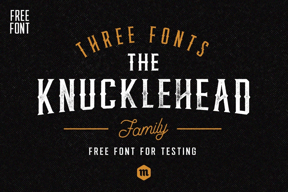 Print on Demand: Knucklehead Schriftarten von Creative Fabrica Freebies