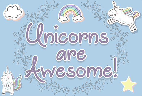 Unicorns Are Awesome Script & Handwritten Font By Misti