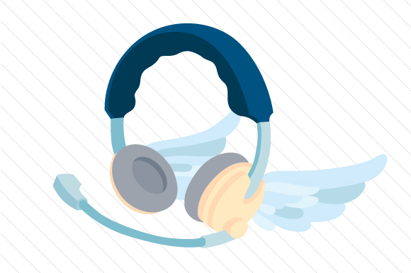 Download Free Winged Headset Svg Cut File By Creative Fabrica Crafts for Cricut Explore, Silhouette and other cutting machines.