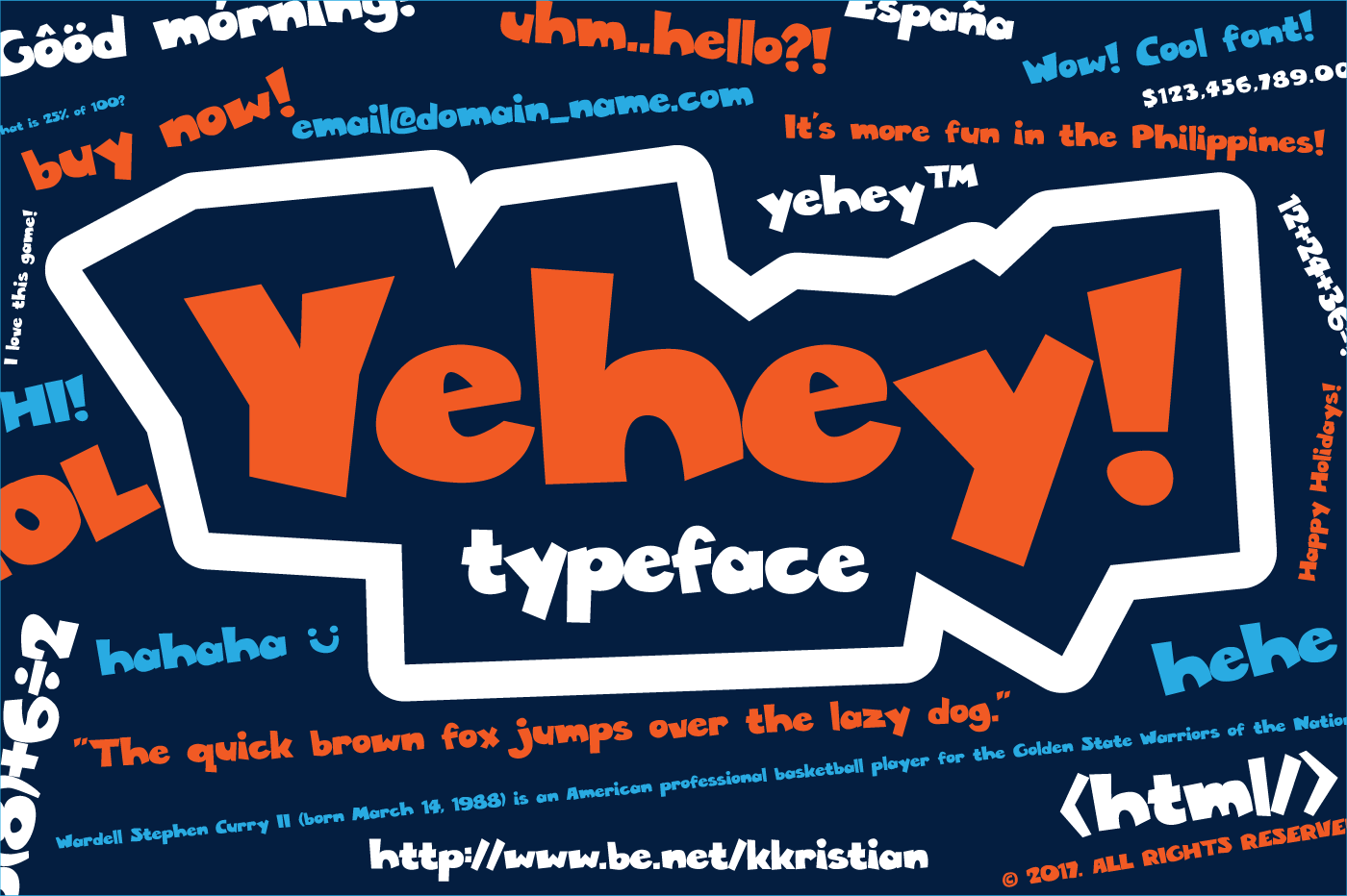 Print on Demand: Yehey! Sans Serif Font By Kristian Koh