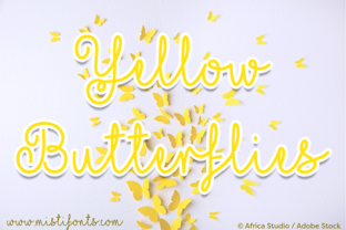 Yellow Butterflies by Misti
