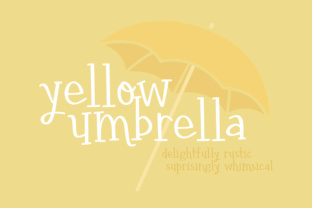 Yellow Umbrella by Brittney Murphy Design