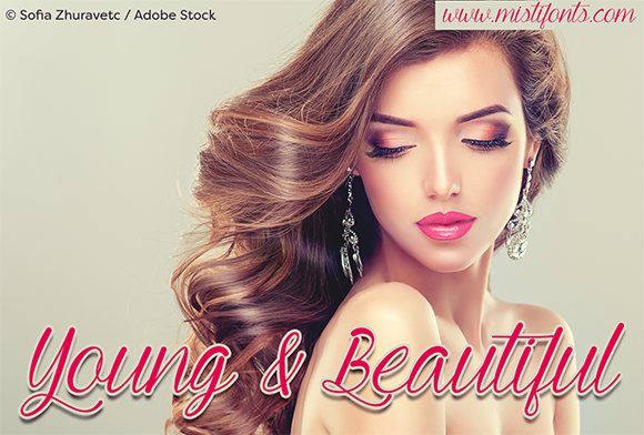 Print on Demand: Young and Beautiful Script & Handwritten Font By Misti