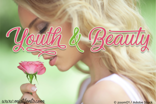 Print on Demand: Youth and Beauty Script & Handwritten Font By Misti
