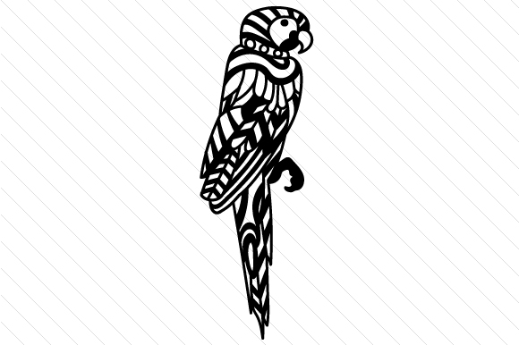 Download Free Parrot Zentangle Svg Cut File By Creative Fabrica Crafts for Cricut Explore, Silhouette and other cutting machines.