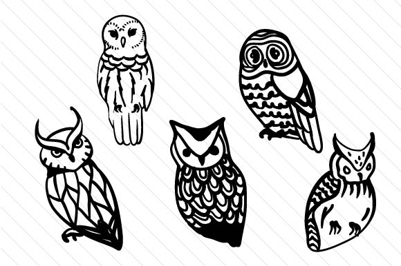 Download Free Hand Drawn Owls Svg Cut File By Creative Fabrica Crafts SVG Cut Files