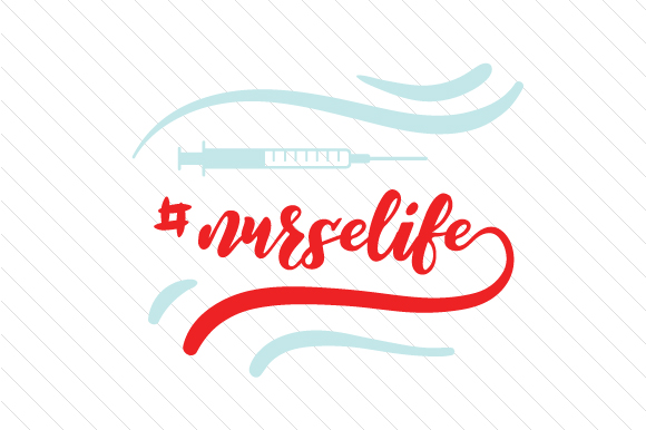 Nurse Life Hashtag # Craft Cut File By Creative Fabrica Crafts
