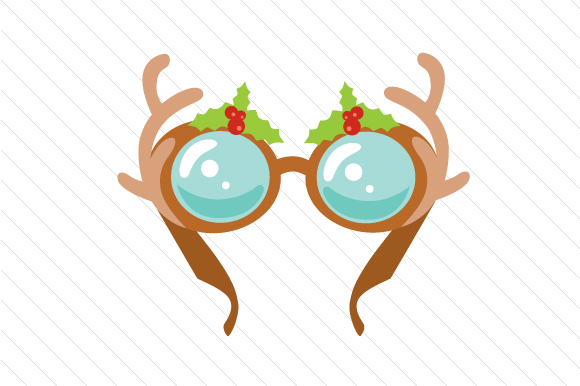 Christmas Reindeer Glasses Christmas Craft Cut File By Creative Fabrica Crafts