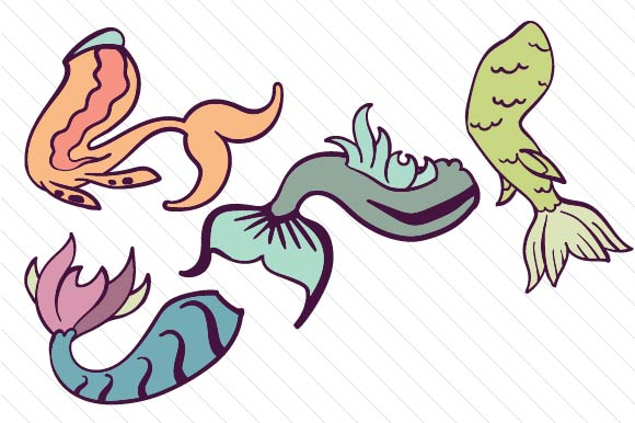 Download Free Mermaid Tail Designs Svg Cut File By Creative Fabrica Crafts for Cricut Explore, Silhouette and other cutting machines.