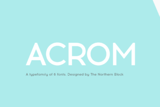 Acrom font family by The Northern Block 1