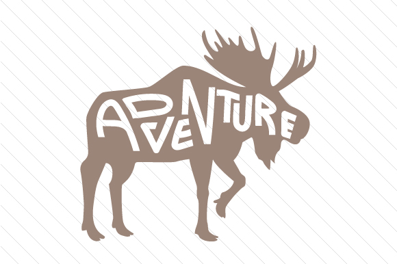 Download Free Adventure Moose Silhouettes Svg Cut File By Creative Fabrica for Cricut Explore, Silhouette and other cutting machines.