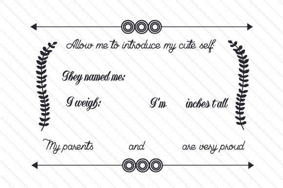 Allow Me to Introduce My Cute Self Kids Craft Cut File By Creative Fabrica Crafts