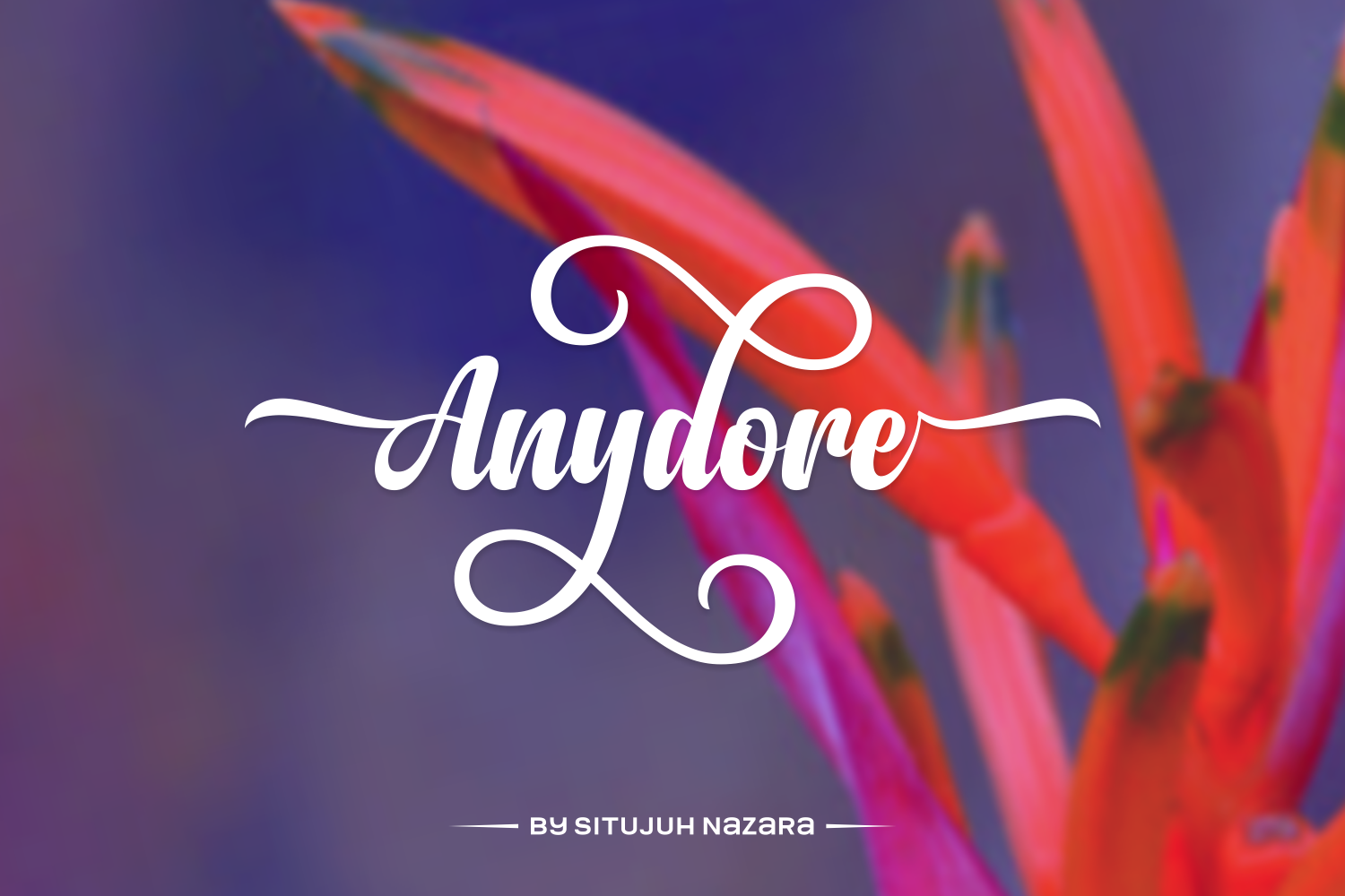 Print on Demand: Anydore Script & Handwritten Font By Situjuh