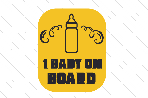 Baby/Babies on Board Family Car Craft Cut File By Creative Fabrica Crafts - Image 1