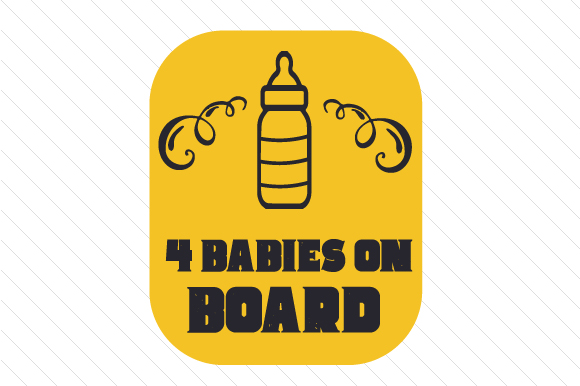 Baby/Babies on Board Family Car Craft Cut File By Creative Fabrica Crafts - Image 4