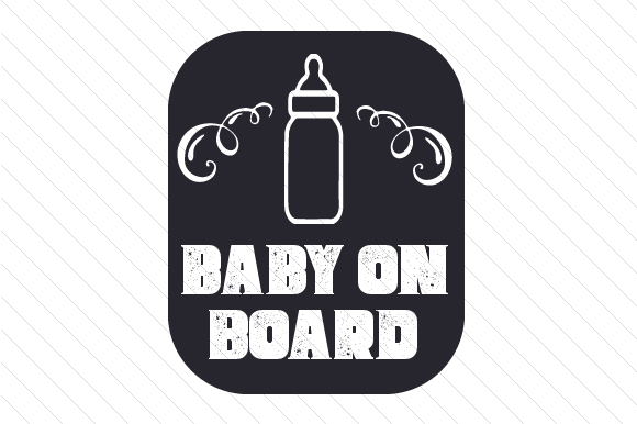 Baby on Board Family Car Craft Cut File By Creative Fabrica Crafts - Image 2