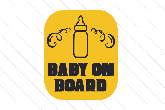 Baby on Board Family Car Craft Cut File By Creative Fabrica Crafts
