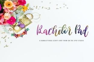 Bachelor Pad font by OnTheSpotStudio 1