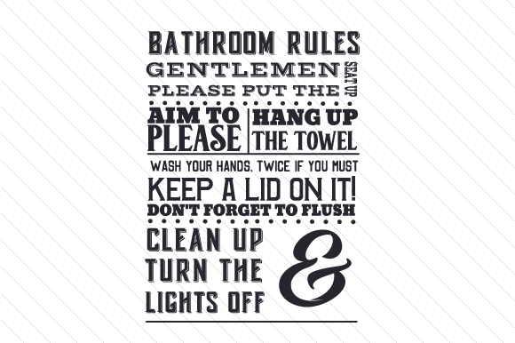 Bathroom Rules Svg Cut File By Creative Fabrica Crafts