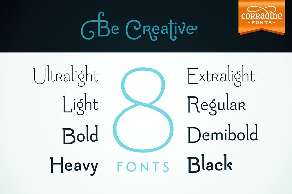 Print on Demand: Be Creative Family Serif Font By Corradine Fonts - Image 1