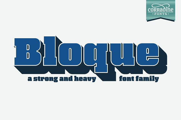 Print on Demand: Bloque Family Slab Serif Font By Corradine Fonts