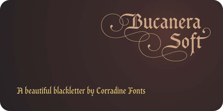 Print on Demand: Bucanera Soft Family Blackletter Font By Corradine Fonts