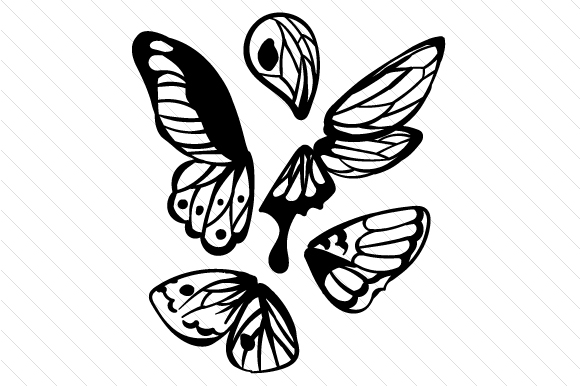 Butterfly Wings Svg Cut File By Creative Fabrica Crafts