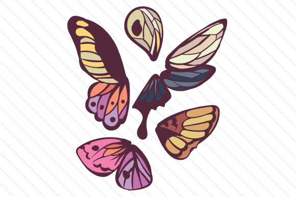 Download Free Butterfly Wings Svg Cut File By Creative Fabrica Crafts for Cricut Explore, Silhouette and other cutting machines.