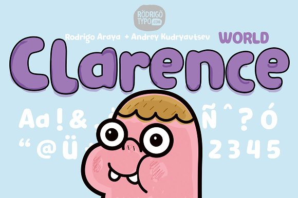 Print on Demand: Clarence World Display Font By Rodrigo Typo